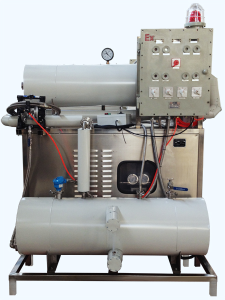 Air& water cooling solvent recycler